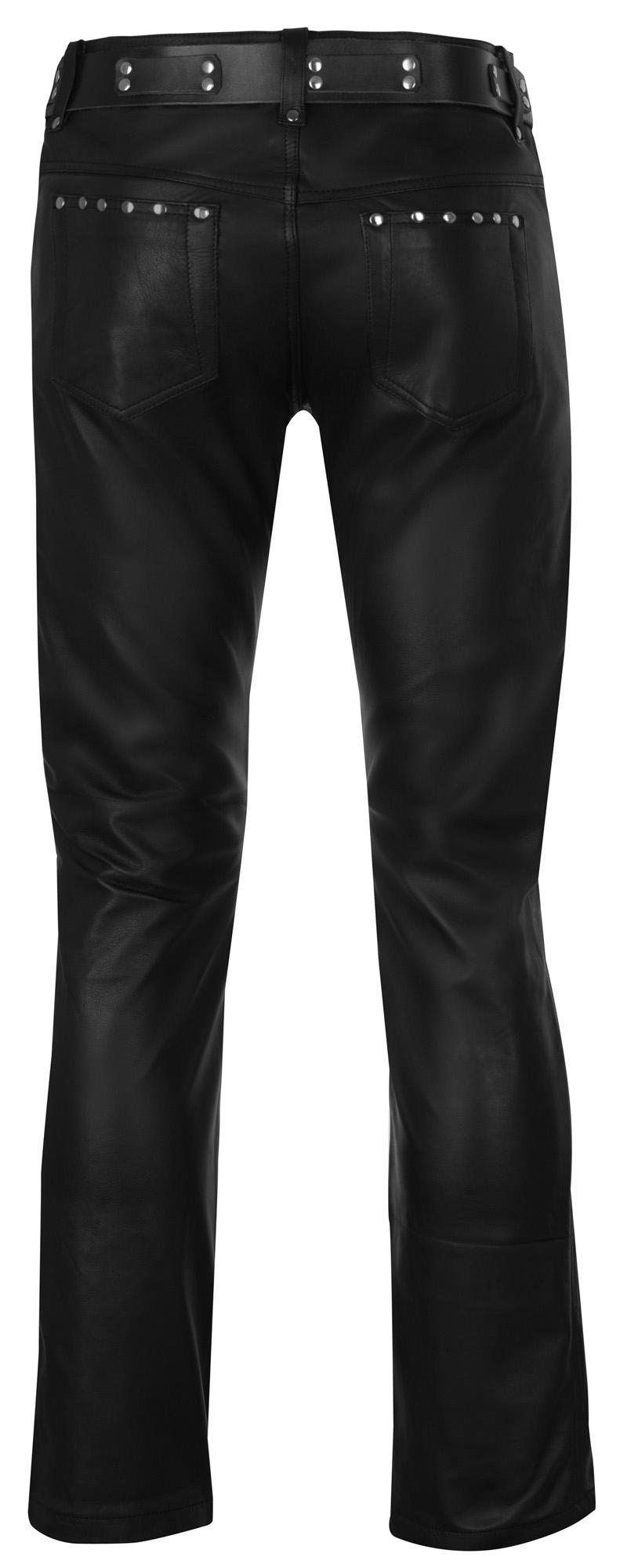 desiger lederhose neu schwarz leather trousers new pants. Black Bedroom Furniture Sets. Home Design Ideas