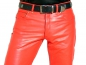 Preview: Leather trousers leather jeans red