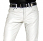 Preview: Leather trousers leather jeans white