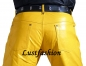 Mobile Preview: Lederhose Lederjeans gelb