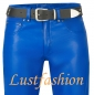 Mobile Preview: Lederhose Lederjeans blau