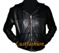 Preview: Leather jacket with hood in different colors