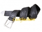 Preview: Leather belt black braided