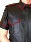 Preview: Leather shirt with coloured edgings in different colors