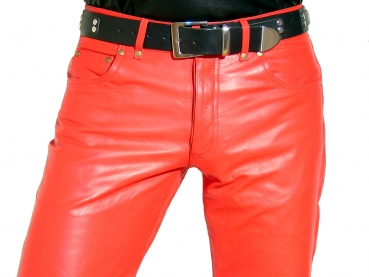 Leather trousers leather jeans red