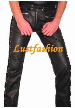 Lace up Leather trousers in different colors