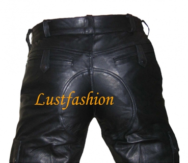 Cargo leather shorts in different colors