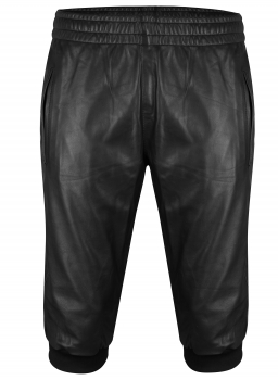 Leather jogging shorts in different colors