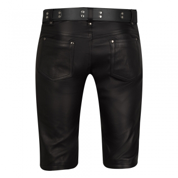 Leather shorts Bermuda-style in different colors