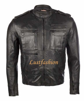 Leather jacket men in different colors
