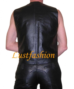 Leather vest in different colours