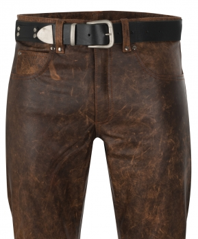 Leather trousers leather jeans antique