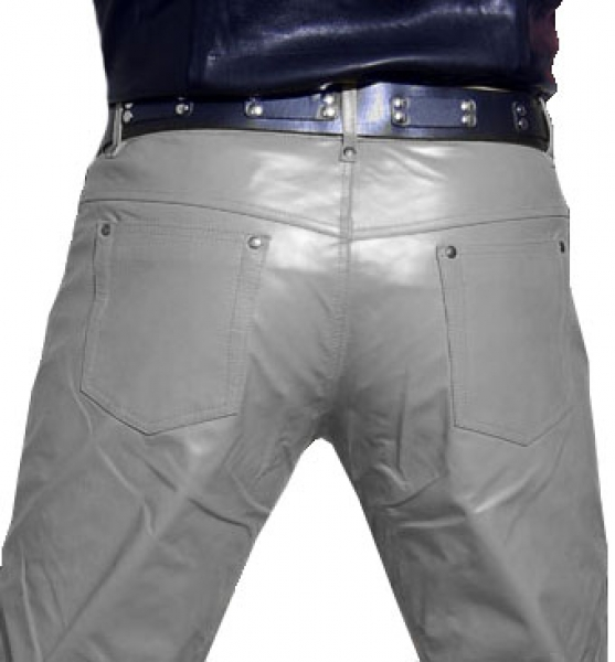 Leather trousers leather jeans grey
