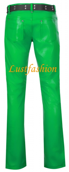 Leather trousers leather jeans light green