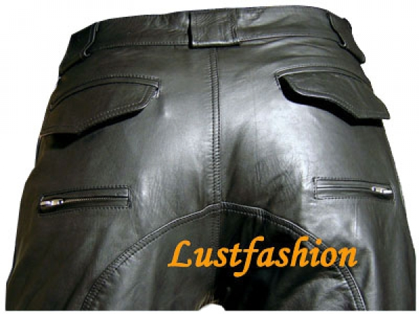 Leather trousers in carpenter style in different colors