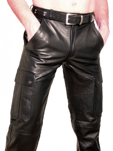 Cargo leather trousers in different colors