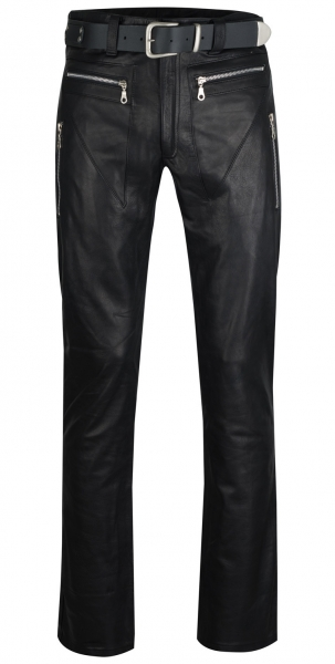 Design leather trousers in different colors