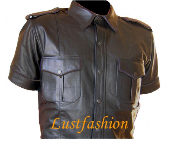 Leather shirt in different colors
