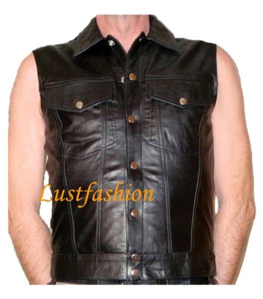 Leather Shirt Leather Shirt sleeveless in different colors