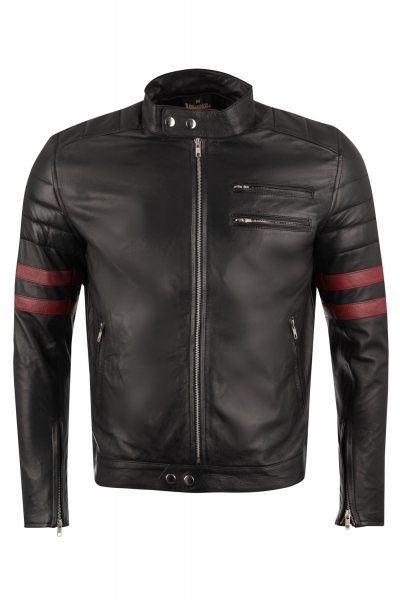 Leather jacket quilted