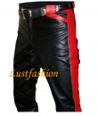 Design- Leather pants with colored applications