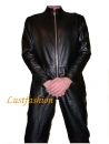 Leather overalls suits full-length zip in different colors